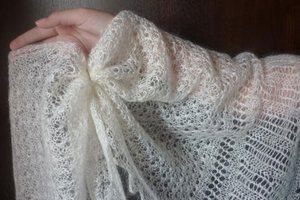 Как отбелить пуховой белый платок