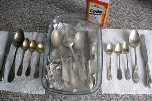Отбелить серебро содой
