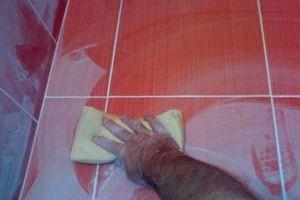 Как и чем отмыть герметик с плитки