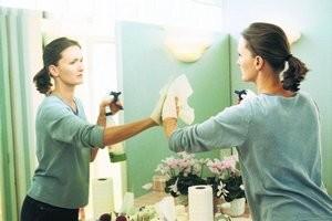 Как очистить зеркало от разводов