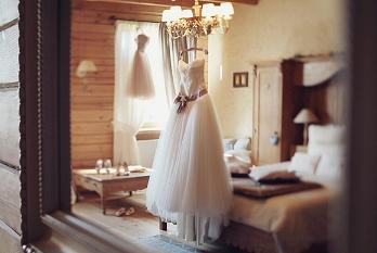 наряд невесты из фатина
