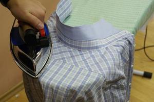 как правильно гладить мужские рубашки