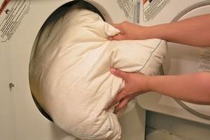 стирка подушки в стиральной машине