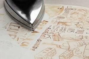как разгладить бумагу утюгом