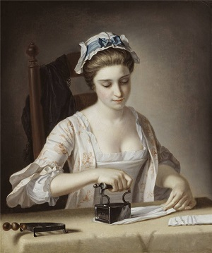 Henry Robert Morland. «Женщина гладит»