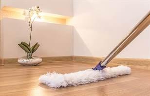 как вымыть ламинат без разводов