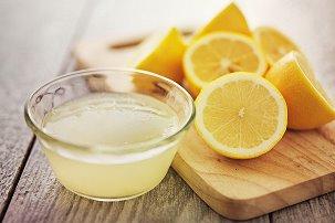 лимонный сок от пятен
