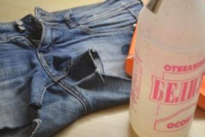 отбеливание джинс белизной
