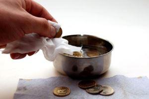 чем очистить  монету из меди