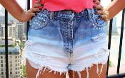 как отбелить джинсовые шорты