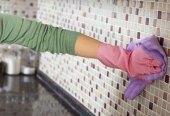 отмыть кафель на кухне