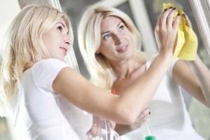 как мыть зеркало