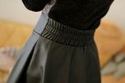 как погладить кожаную юбку