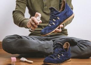 кроссовки из замши
