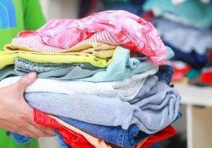 одежда в стопке
