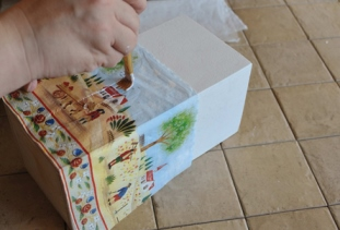 оклейка коробки