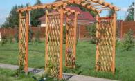 Деревянные арки для дачи – украсить территорию просто