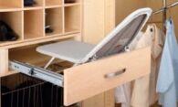 Этапы изготовления встроенной гладильной доски своими руками