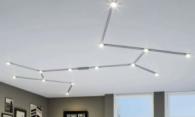 Освещение натяжных потолков с использованием магнитного шинопровода