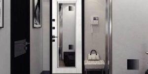 Основные отличия и преимущества входных дверей с зеркалом