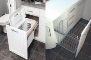 Основные преимущества применения выдвижных корзин для обустройства кухни