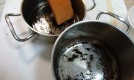 Как очистить эмалированную кастрюлю от нагара?