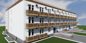 Этапы строительства трехэтажного дома