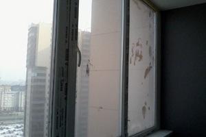 Чем отмыть окна от цементного раствора цветок на бетоне