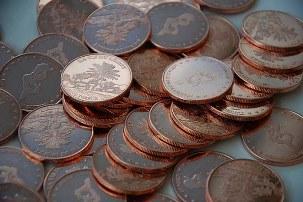 чистка мідних монет