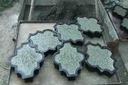 як відмити форми для тротуарної плитки