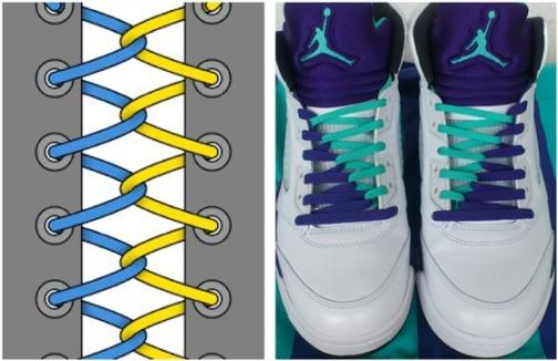 кольорові шнурки